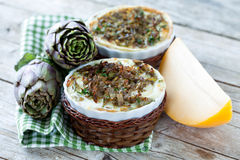 Casseroles With Vegetable Flans Royalty Free Stock Photo