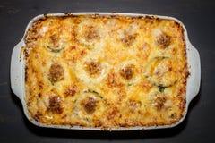 Casseruola con formaggio Fotografia Stock Libera da Diritti