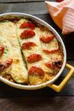 Casseruola con lo zucchini ed il formaggio Immagini Stock Libere da Diritti
