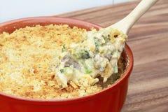 Casseruola del broccolo del pollo Fotografie Stock
