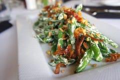 Casseruola del fagiolo verde Immagine Stock