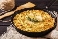 Casseruola della patata con formaggio Fotografia Stock Libera da Diritti