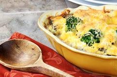 Casseruola di formaggio del broccolo Fotografie Stock