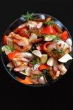 Casseruola di pollo con chorizo Immagine Stock Libera da Diritti