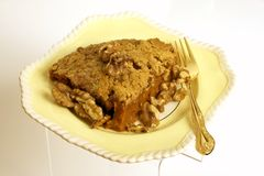Casseruola o grafico a torta della patata dolce Fotografia Stock