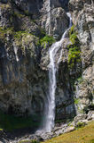 Casset waterfall in Valgaudemar, Hautes Alpes, Alps, France. Casset waterfall in the Valgaudemar Valley in summer. Ecrins National Park, Hautes Alpes, France royalty free stock image