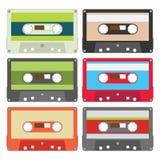 A cassete áudio ajustou II Foto de Stock Royalty Free