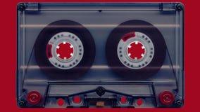 Cassete áudio da rotação video estoque