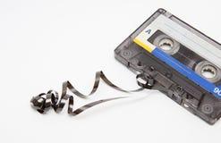 Cassete áudio do vintage no fundo branco Foto de Stock Royalty Free