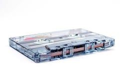 Cassete áudio em um fundo branco Foto de Stock
