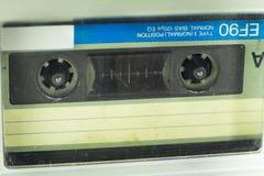 Cassete áudio velha em um muito próximo Fotos de Stock Royalty Free