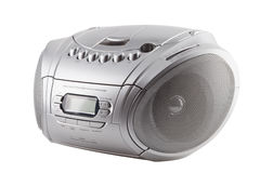 cassete CD播放器收音机记录员 免版税库存照片