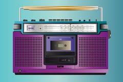 Cassete de banda magnética do ghettoblaster do vintage Imagens de Stock
