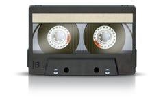 Cassete de banda magnética em branco Fotos de Stock