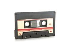 Cassete de banda magnética isolada no branco Fotos de Stock Royalty Free