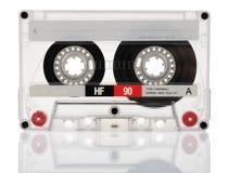 Cassete de banda magnética isolada no fundo branco Imagem de Stock Royalty Free
