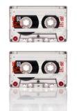 Cassete de banda magnética isolada no fundo branco Imagens de Stock Royalty Free