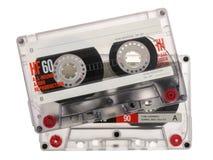 Cassete de banda magnética isolada no fundo branco Fotos de Stock
