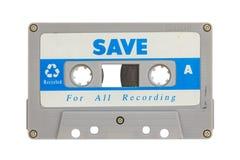 Cassete de banda magnética velha Fotos de Stock Royalty Free