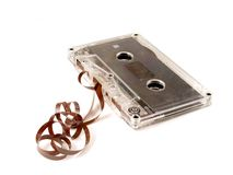 Cassete de banda magnética velha Fotografia de Stock