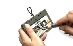 Cassete de banda magn?tica do estojo compacto do vintage fotos de stock royalty free