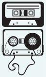 Cassete de banda magnética Fotografia de Stock