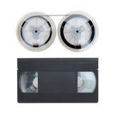 Cassete de banda magnética de VHS Fotos de Stock Royalty Free