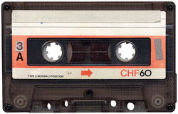 Cassete de banda magnética retro Imagem de Stock