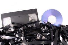 Cassete do video tape a DVD fotos de stock royalty free