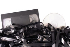 Cassete film to DVD Stock Photo
