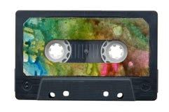 Cassete_tape. Audio cassette tape, isolated on white Stock Image