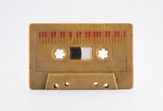Cassete áudio idosa no fundo branco Foto de Stock
