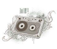 Cassete áudio no fundo estranho Imagem de Stock