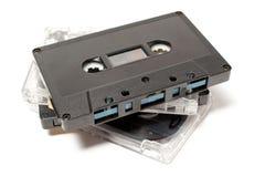 Cassetes áudio Fotografia de Stock