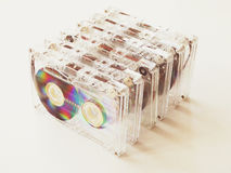 Cassetes áudio para o registrador Fotografia de Stock