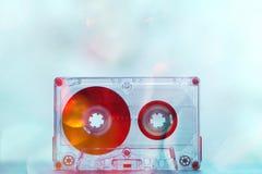 Cassetes áudio para o vintage da dança do partido do registrador foto de stock royalty free