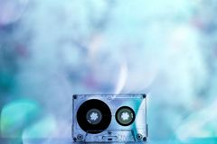 Cassetes áudio para o vintage da dança do partido do registrador foto de stock
