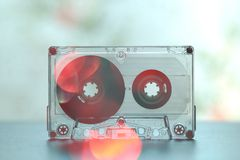 Cassetes áudio para o vintage da dança do partido do registrador fotografia de stock