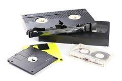 Cassetes de banda magnética do vídeo e de música Imagens de Stock Royalty Free