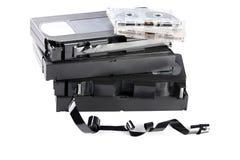Cassetes de banda magnética do vídeo e de música Fotografia de Stock