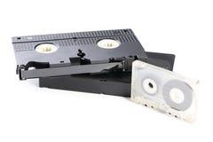 Cassetes de banda magnética do vídeo e de música Foto de Stock Royalty Free