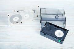 Cassetes de banda magnética do vídeo e de música Fotos de Stock