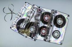 Cassetes de banda magnética do vintage Imagens de Stock