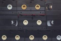 Cassetes de banda magnética video de VHS Fotografia de Stock