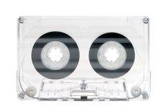 Cassetta audio ad alta fedeltà trasparente su bianco Immagine Stock Libera da Diritti