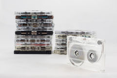 Cassetta, cercante i vecchi pezzi a partire dagli anni 70 Immagine Stock
