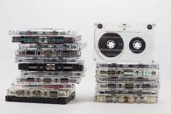 Cassetta, cercante i vecchi pezzi a partire dagli anni 70 Immagini Stock