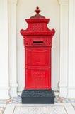 cassetta della posta rossa della posta Immagini Stock