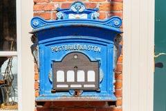 Cassetta della posta storica ad una parete della casa Fotografie Stock Libere da Diritti