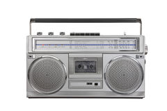 Cassetta della radio portatile dell'artificiere del ghetto dell'annata Fotografia Stock Libera da Diritti